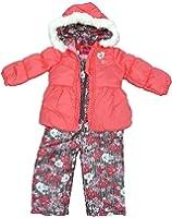 London Fog Little Girls' 2-Piece Floral Snowsuit Coral 4T