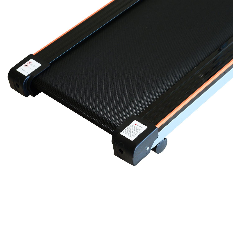 0,75 caballos el/éctrica y plegable Neuf 86 Cinta para correr con ruedas pantalla LCD con 2 portavasos color gris y negro