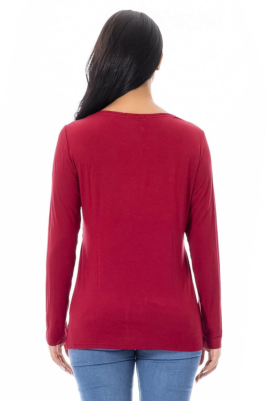 Damen Stillshirt Umstandsmode T-Shirt Umstandstop Umstandsshirt Schwangerschaft Kleidung Kleidung Kleidung Stilltop Langarmshirt B07MN3DK72 Langarmshirts Niedriger Preis ea5272