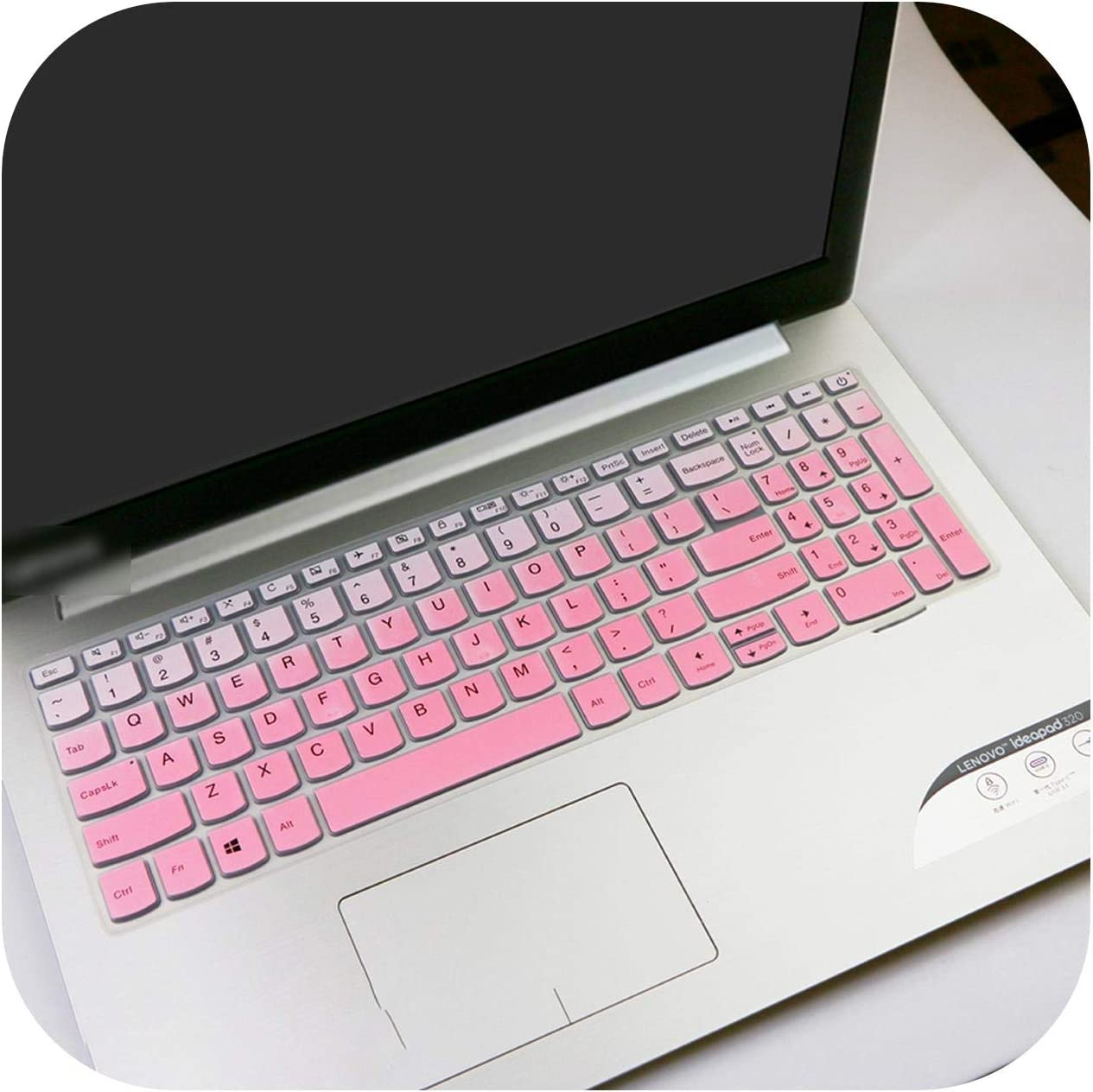 Laptop Notebook Keyboard Cover Skin Protector for Lenovo Ideapad S145 15 S145 15Ast S145 15Iwl 14Ast 15Iwl 330 320 15.6 Inch-White