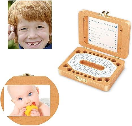 #1 Bo/îte /à dents de b/éb/é personnalis/é en bois organisateur de stockage de dents de lait en bois pour enfants dents perdues souvenir souvenir
