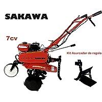 SAKAWA Motocultor motoazada 7CV 3 velocidades Asurcador