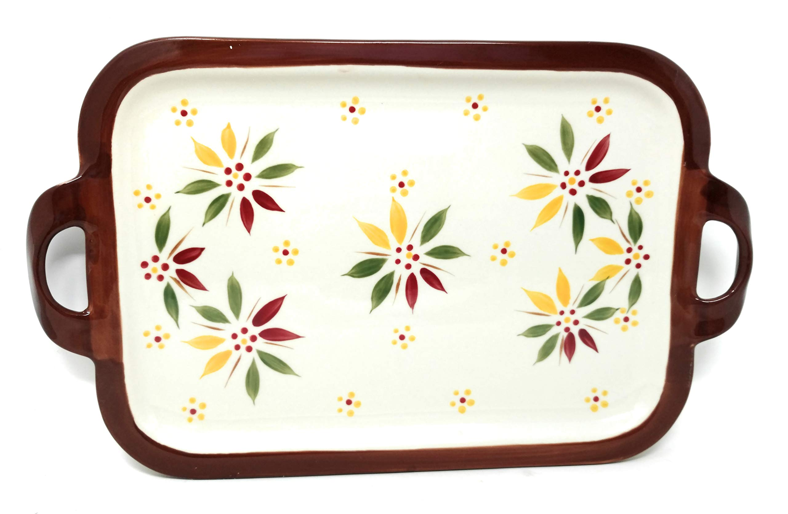 Temp-tations 13''x9'' Cookie Sheet w/Handles, Platter, Shallow Tray or Replacement Lid-It (Handles Old World Fallfetti)