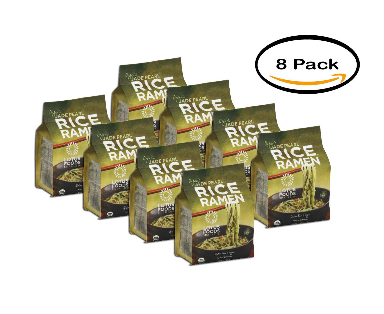 PACK OF 8 - Lotus Foods Organic Jade Pearl Rice Ramen, 10 Oz