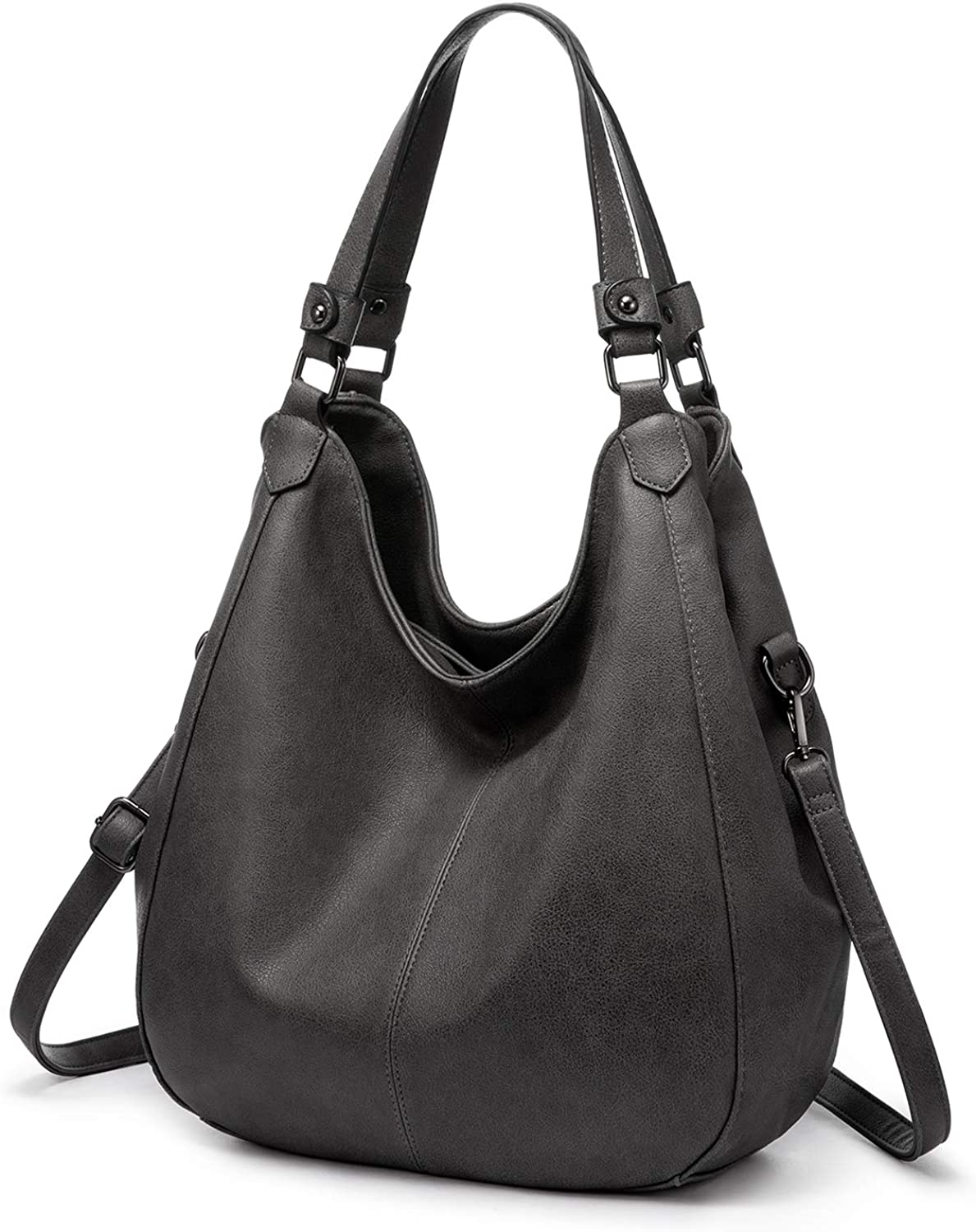 Hobo Bags for Women Faux Leather Shoulder Bag Large Crossbody Bags with 2 Compartments