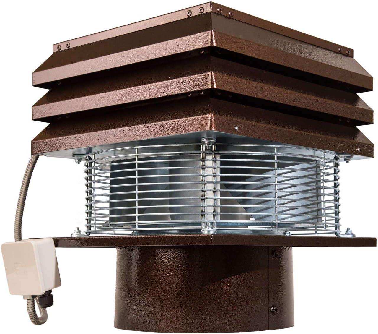Extractor de humo Extractores de humo para chimeneas para barbacoa Aspirador de humos para chimenea extractor de chimenea extractor chimenea leña Gemi Elettronica modelo profesional redondo de 30 cm