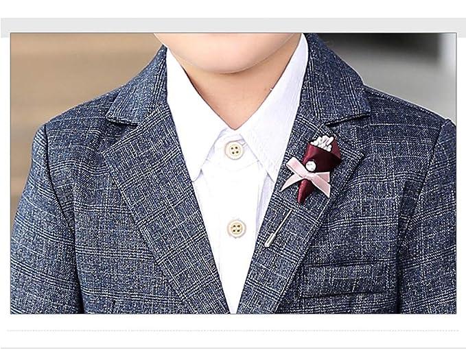 Wenchuang Junge Fr/ühling und Sommer Hochzeit Pianist Gitter 3 St/ück Anzug Kleid