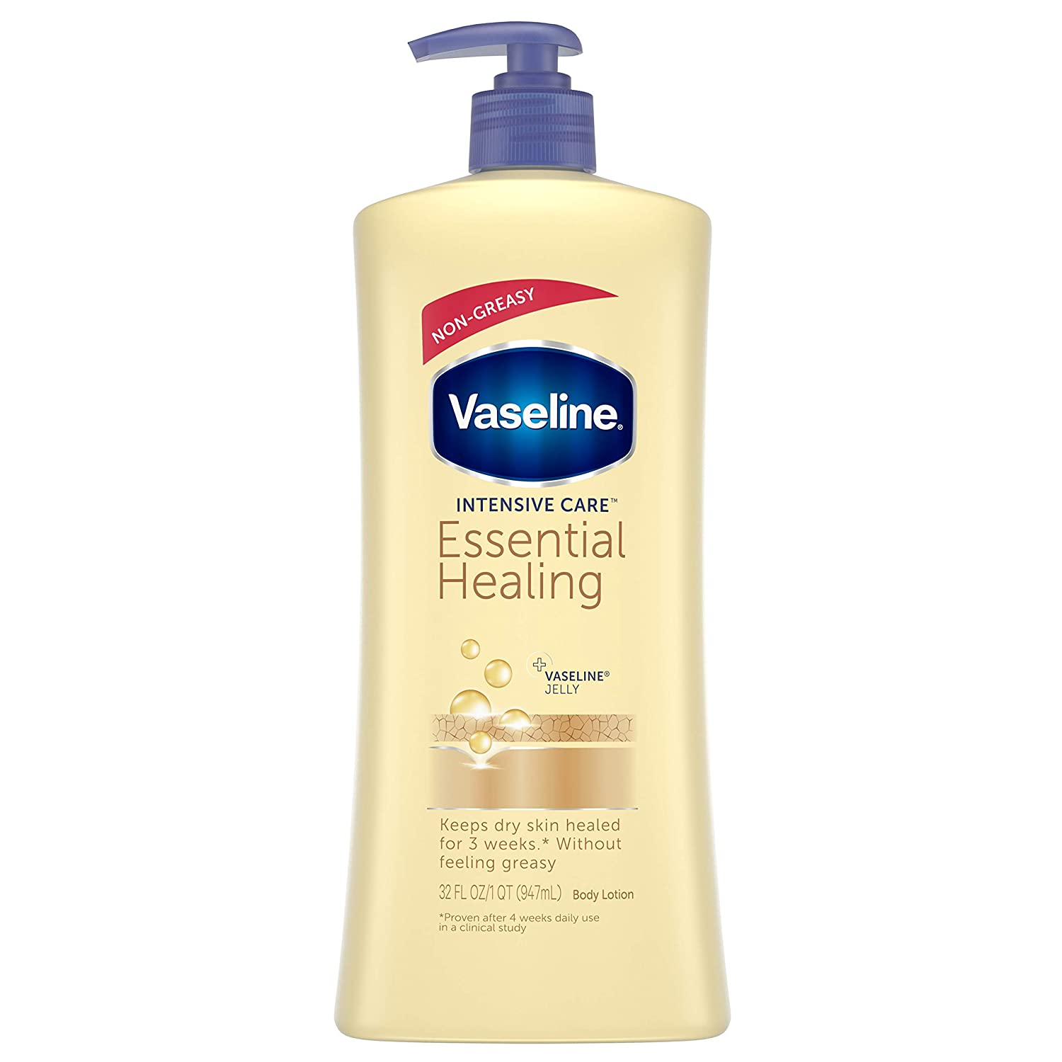 Vaseline Intensive Care Body Lotion, Essential Healing, 32 oz