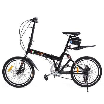 """iglobalbuy 20 """"rueda de bicicleta plegable plegable de almacenamiento plegable para bicicleta con bolsa"""