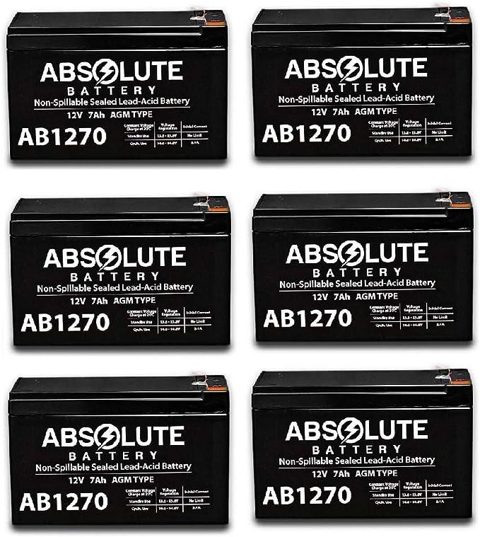 6 Pack New AB1270 12V 7AH SLA Battery Replacement 4 APC Smart-UPS RM SUA1500RM2U