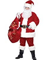 California Costumes Deluxe Plus Size Santa Claus Suit Christmas Costume PLUS