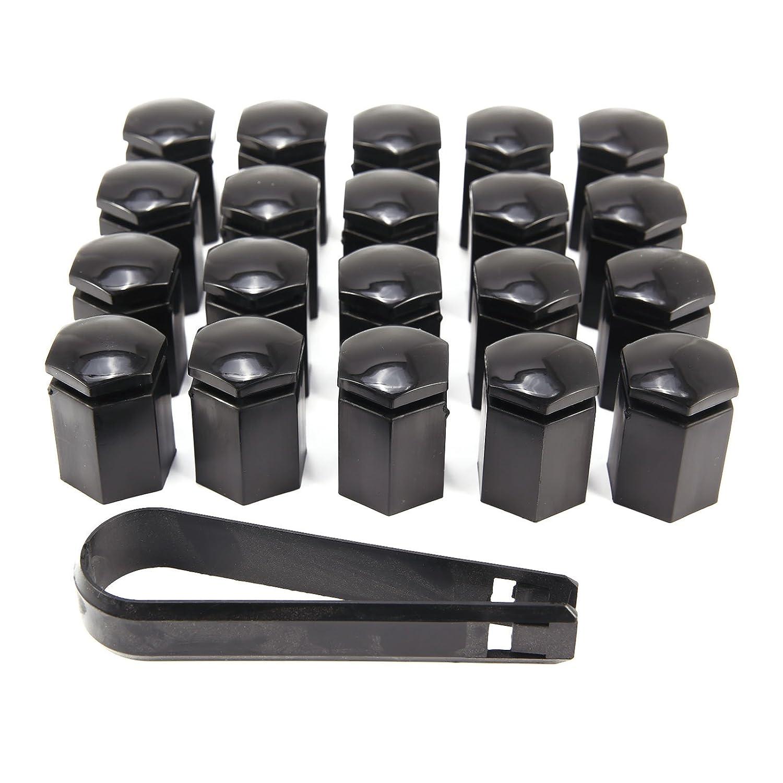 CLE DE TOUS - Kit de 20pcs 17mm Cromado Caperuzas Tapones Cubre Tapa Caps de Tuercas Pernos Tornillos Modelo Largo para Rueda de Coche Llantas de Aleación y ...