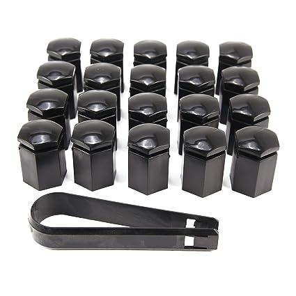 CLE DE TOUS - Kit de 20pcs 17mm Cromado Caperuzas Tapones Cubre Tapa Caps de Tuercas Pernos ...
