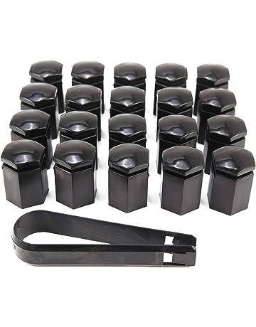 CLE DE TOUS - Kit de 20pcs 17mm Cromado Caperuzas Tapones Cubre Tapa Caps de Tuercas