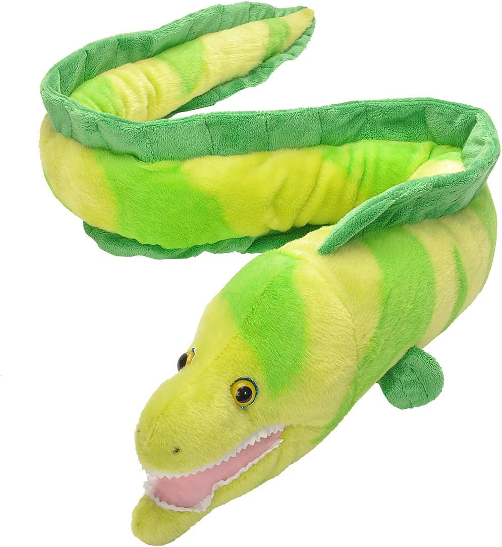 Wild Republic Moray EEL Plush, Stuffed Animal, Plush Toy, Gifts for Kids, Cuddlekins 50""