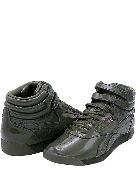 d7f7439a1869 Reebok Women s Freestyle Hi Patent Sneaker