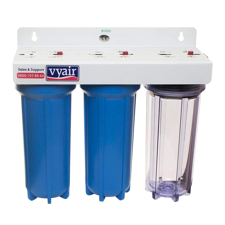 10  VYAIR Koi Carp, Tropical Fish, Garden Pond Tap Water Filter 3Stage Dechlorinator & Aquarium Water Purifier (20 )