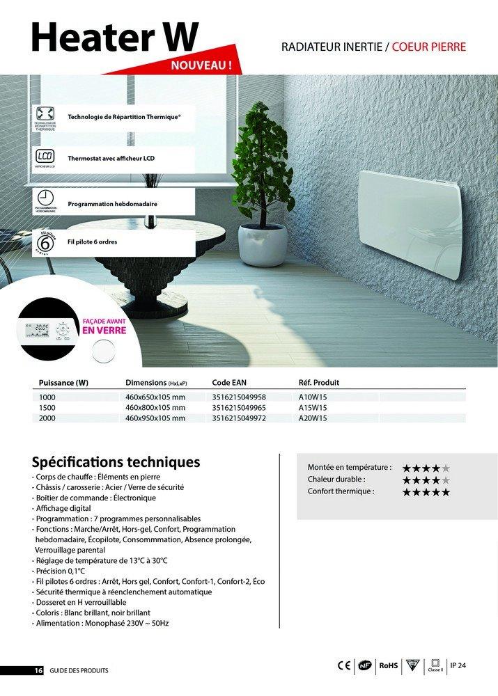 cristal LCD Cayenne 49606/- Radiador por inercia cer/ámica color blanco 1500/W