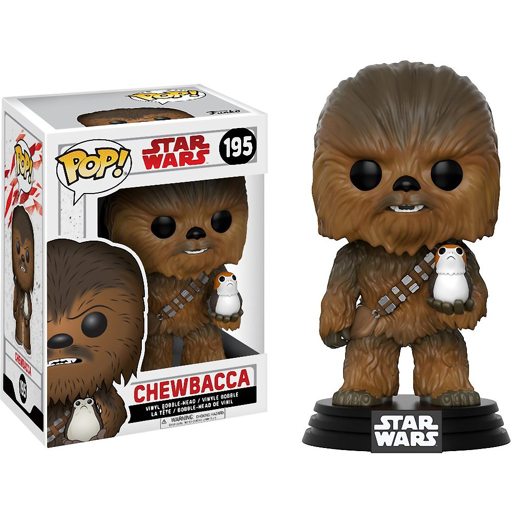Compatible PET Plastic Graphical Protector Bundle Funko Chewbacca: Star Wars #195 // 14748 - B BCC9U0602 Vinyl Figure /& 1 POP The Last Jedi x POP