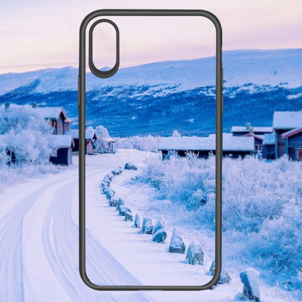 iPhone X Case, iPhone 10 Case, JASBON Ultra Thin Case TPU Bumper Transparent Crystal Hard PC Back Cover Full Protective Drop Protection Case for Apple iPhone X-Black