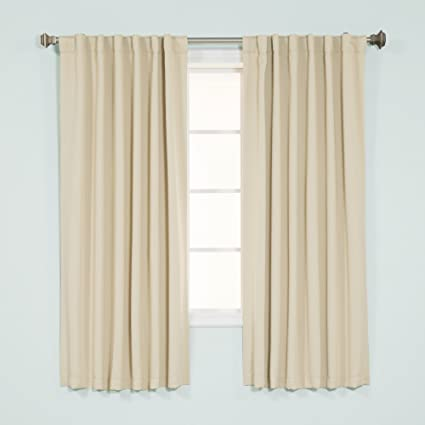 Exceptional Best Home Fashion Thermal Insulated Blackout Curtains   Back Tab/ Rod  Pocket   Beige
