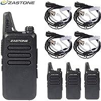 Zastone X6 Radios de Dos vías Recargables de Largo Alcance con Auricular 4 Paquetes de 3 Canales de 16 Canales UHF 400-470Mhz Walkie Talkies