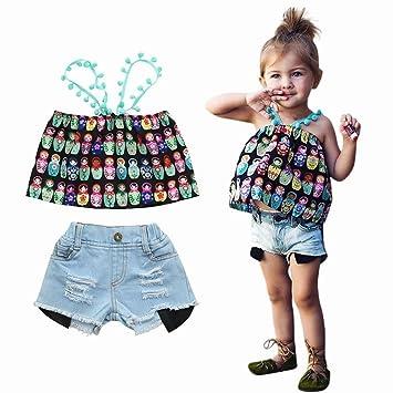 3dbdea1054d0 Super Fashion ! Viahwyt Girls Summer Clothes Set