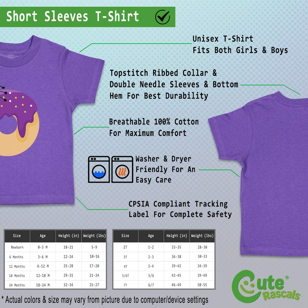Custom Baby /& Toddler T-Shirt Purple Spider Donuts Cotton Boy Girl Clothes