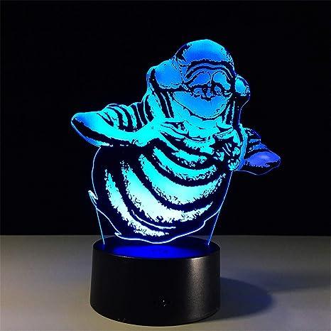 Lámparas de ilusión óptica de LED 3D cerca de luz,7colores,Arte ...