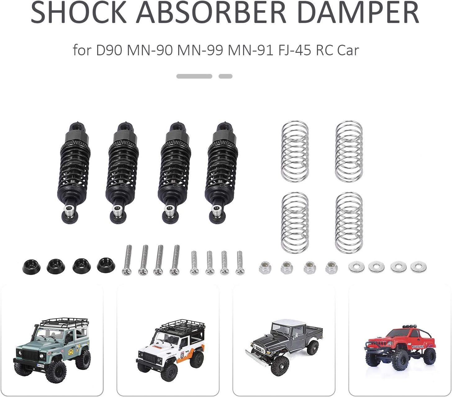 Godyluck Aluminum Alloy Metal Shock Absorber Damper for D90 MN-90 MN-99 MN-91 FJ-45 RC Car 1//12 Rock Crawler Upgrade Parts