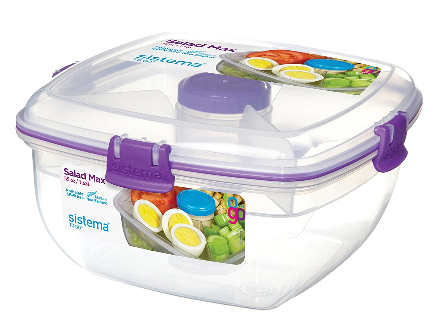 15/x 15/x 12/cm Transparent 3/Seater System Lunch Lunch to Go System Plastic
