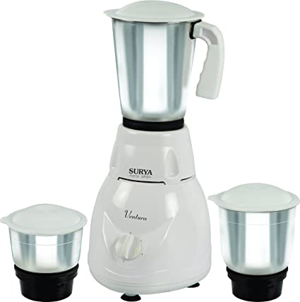 Buy Surya Ventura 500 W 3 Jar Mixer Grinder, White Online at Low Prices in India - Amazon.in