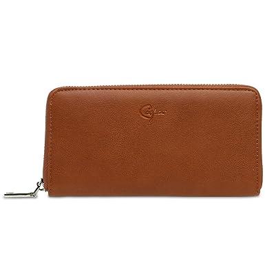 84cadbe7750a1 CASPAR GB413 großer langer Damen Geldbeutel Geldbörse Portemonnaie mit  umlaufendem Reißverschluss