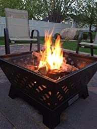 Hot sale landmann 25282 barrone fire pit with cover 26 inch antique bronze www - Landmann barrone fire pit ...