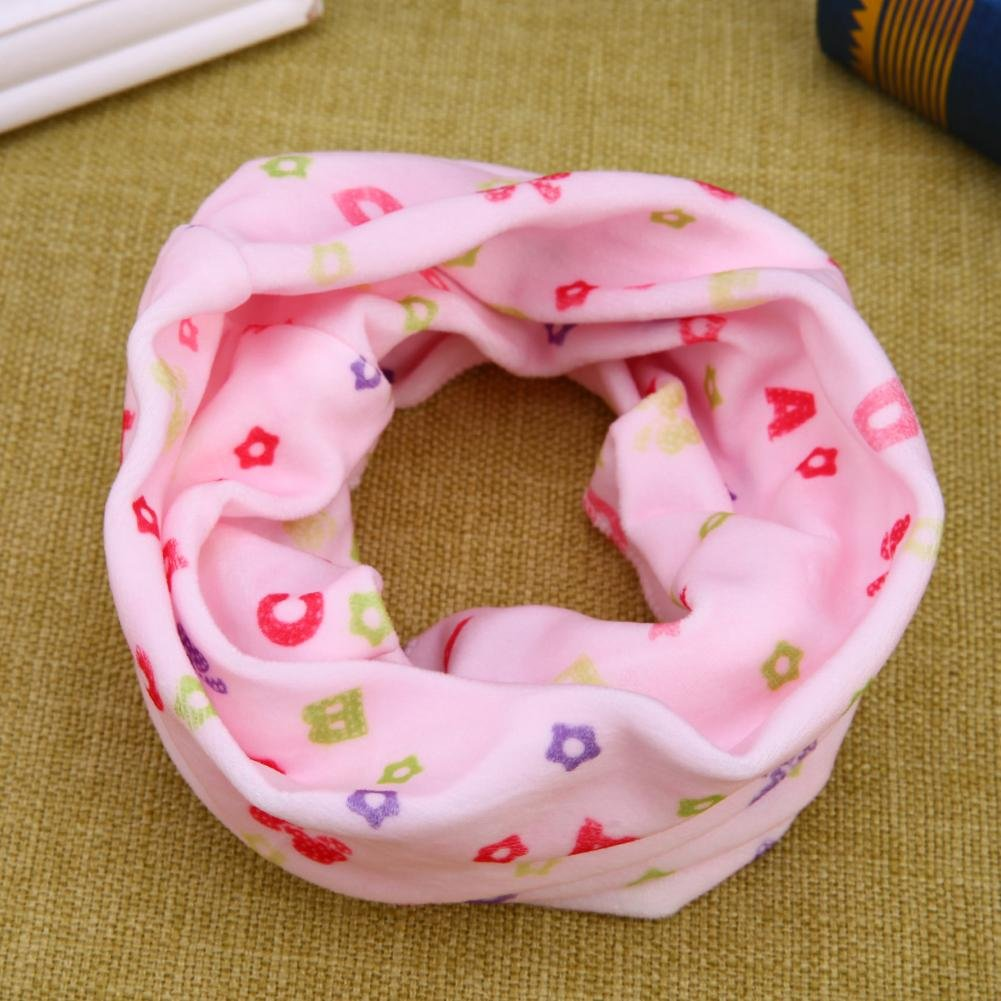 Domybest Autumn Winter Children Snood Scarf Baby O Ring Cartoon Collars Child Neck Warm Scarves 161471.02