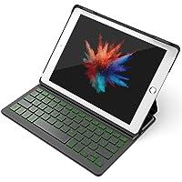 """Inateck Backlight Tastatur Keyboard Case Hülle kompatibel mit 9,7"""" iPad 2018 (6. Generation), iPad 2017 (5. Generation) und iPad Air 1, in QWERTZ Layout, KB02002"""