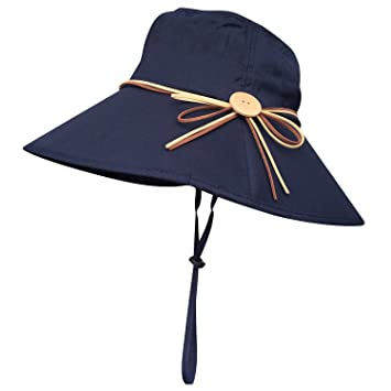 33fd0379cf1 Packable Wide Brim Sun Bucket Hat Adjustable UPF 50+ Sun Protection Hat Cap  Travel Beach