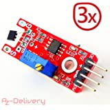 AZDelivery ⭐⭐⭐⭐⭐ Set KY – 024 lineare Magnetic Hall Sensore per Arduino