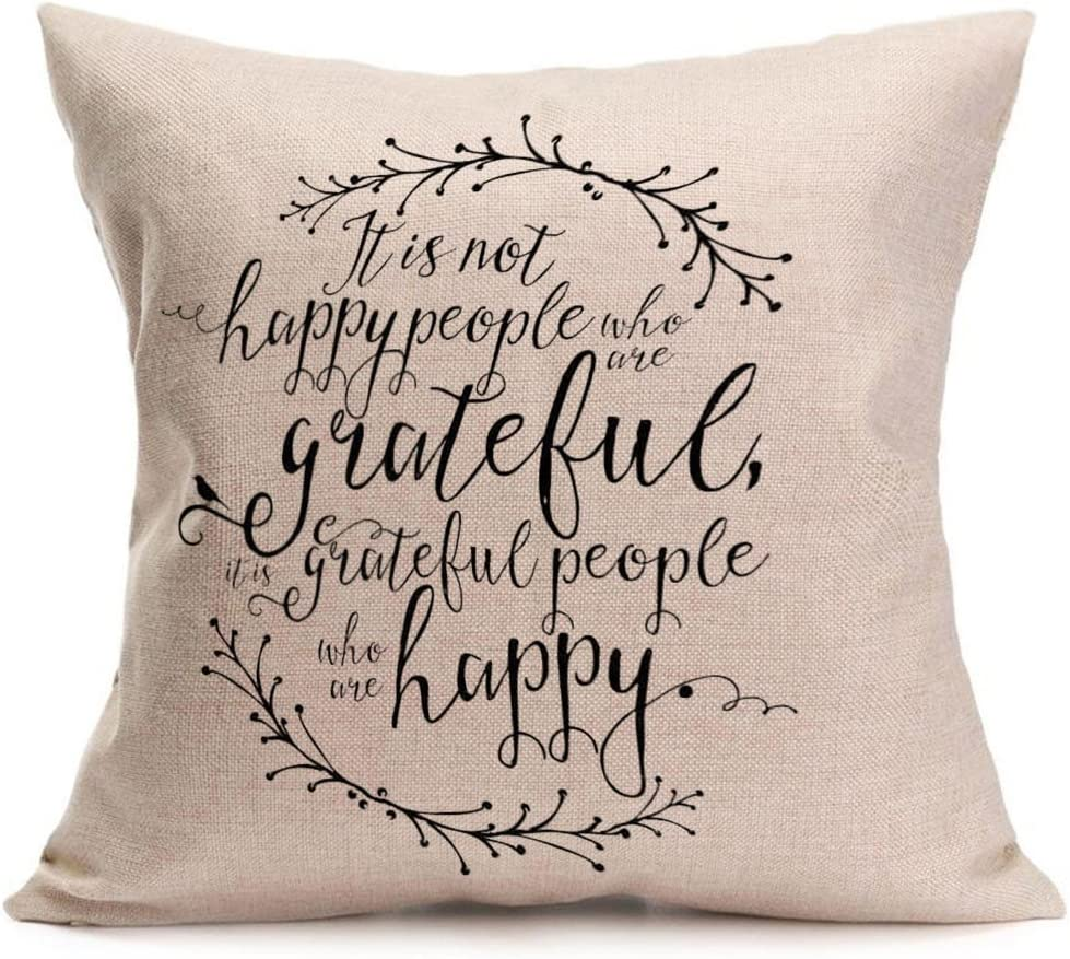 Thanksgiving Day Throw Pillow Cushion Covers for Sofa Couch Bed TiTCool Fall Decorations for Home 18x18, B