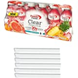 Premier Protein Clear Protein Drink Shake 16.9-oz. - Tropical Punch Flavor – 6 Ct. Bonus of 6 Individually Wrapped Straws