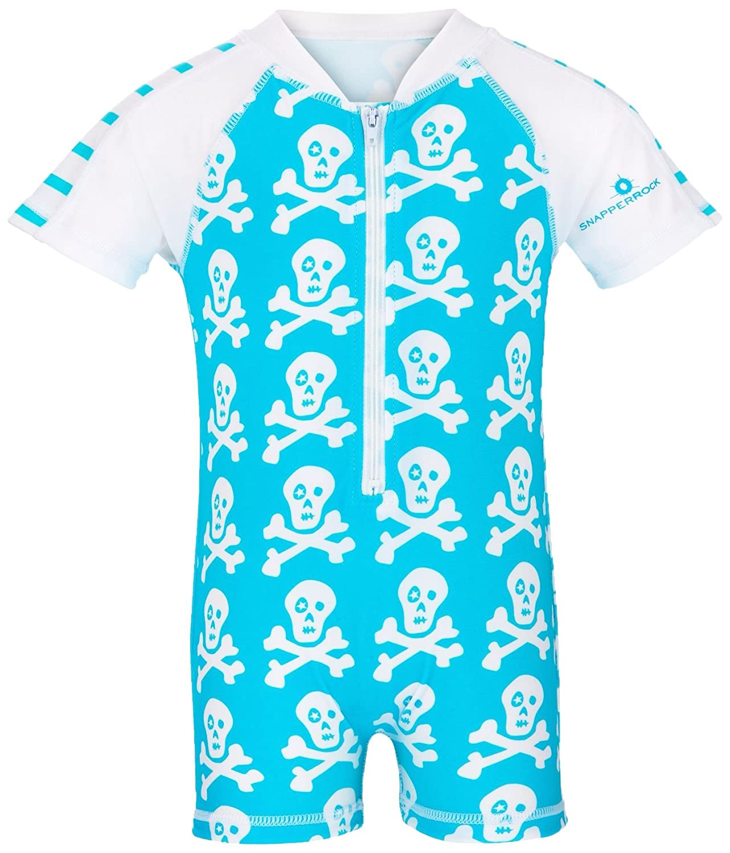 Snapper Rock Short Sleeve Skeleton Sunsuit