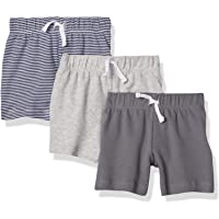 Amazon Essentials 3-Pack Pull-on Short Bebé-Niños, Pack de 3