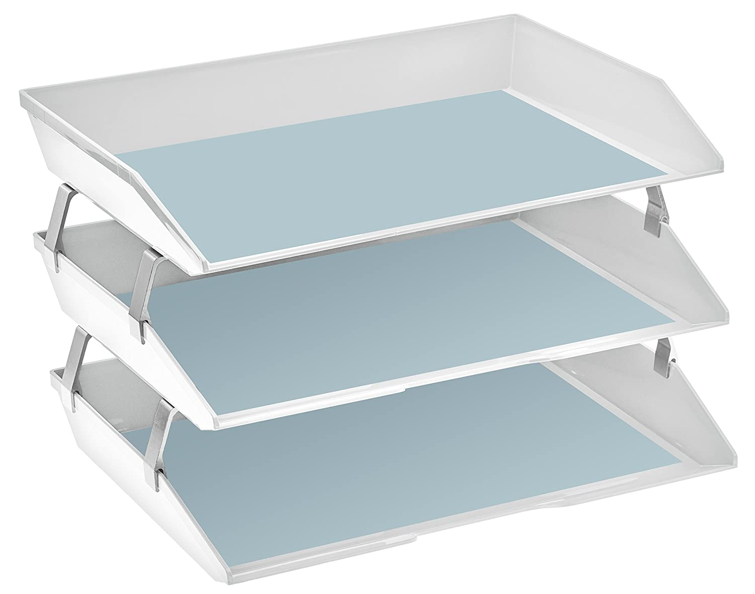 255.6 Acrimet Facility 3 Tiers Triple Letter Tray White Color