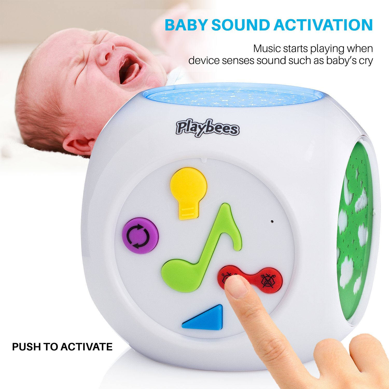 Amazon Playbees Baby Sound Machine & Star Projector Night