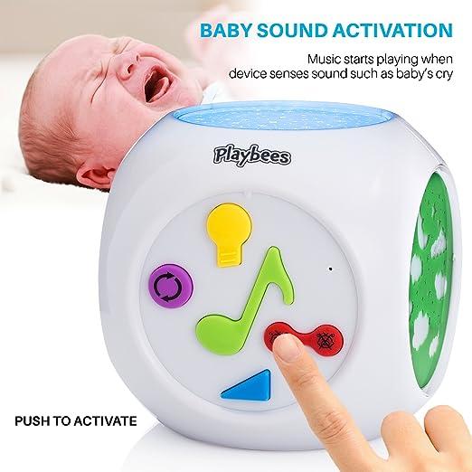 Playbees Baby Nachtlicht Projektor und Sound Maschine ...