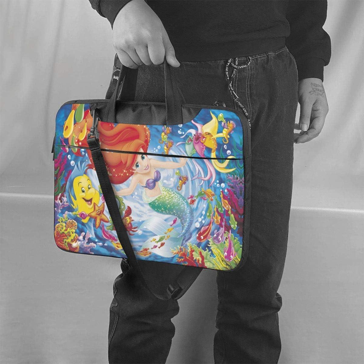 Little Mermaid Laptop Sleeve Case Handheld One Shoulder Shockproof Oxford Protective Case//Notebook Computer Pocket Case//Tablet Briefcase Carrying Bag Compatible-13 inch