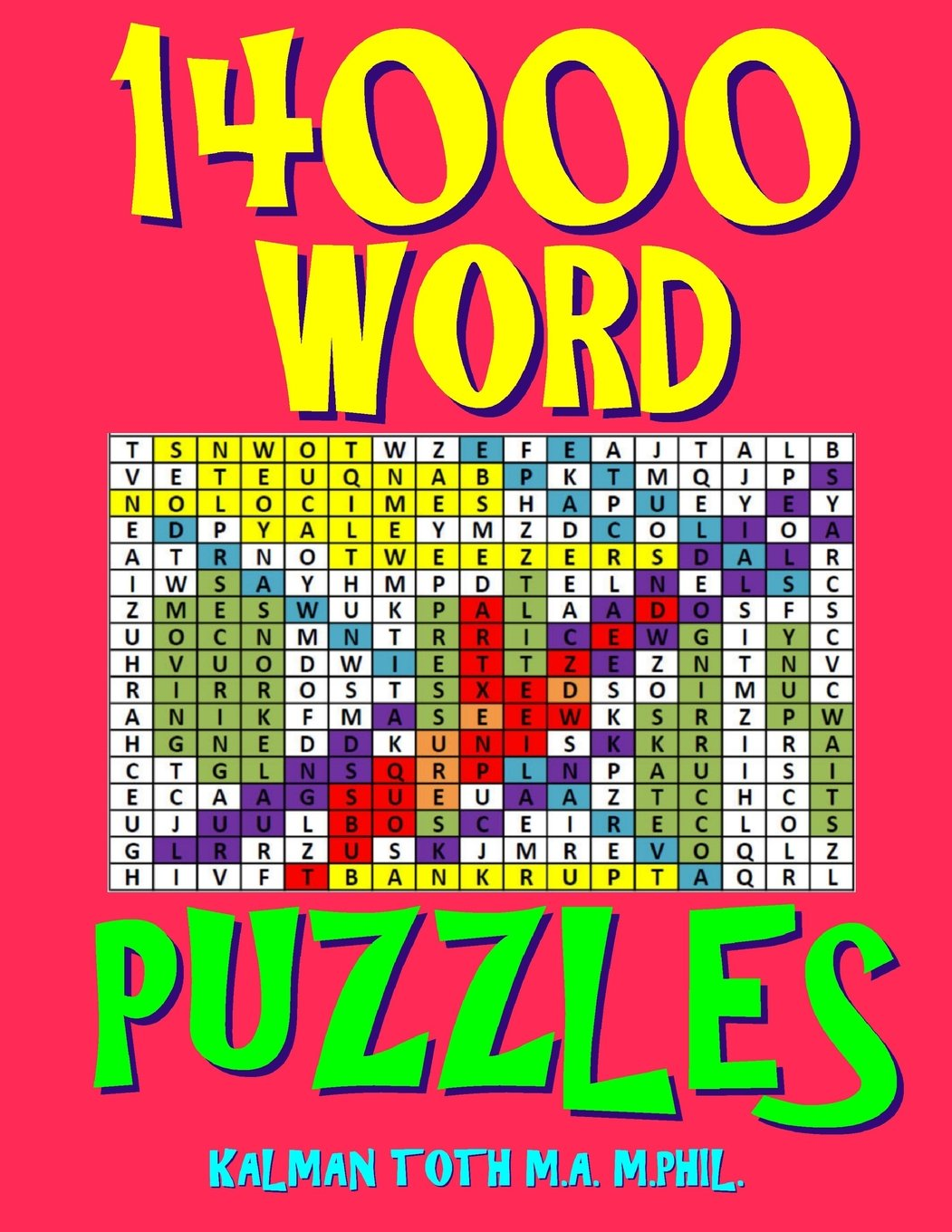 14000 Word Puzzles: 500 Large Print Challenging Word Search Puzzles Each with 28 Words pdf epub