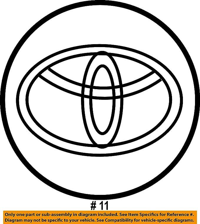 Amazon Com Oem Toyota Center Cap 2 5 Inches 42603 Ac070 42603 Ac040