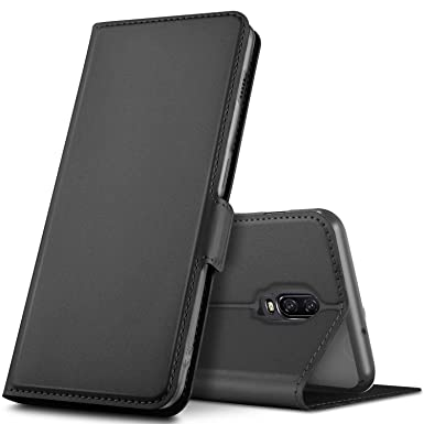 online store db82f a8796 Geemai Oneplus 6T Case, Oneplus 6T Cover [Card Holder] [Magnetic Closure]  Premium Leather Flip Wallet Case Cover Fit for Oneplus 6T Smartphone, Black