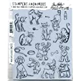 Stampers Anonymous Design Works Crafts SPATHCMS.272 StampersA Cling Stamp Tholtz Mini Cats & Dogs